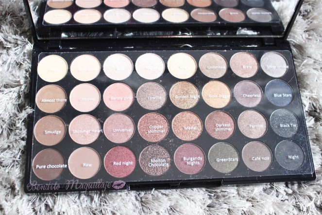 Paleta Flawless nombres sombras