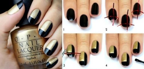 manicura-moderna-dorado-negro